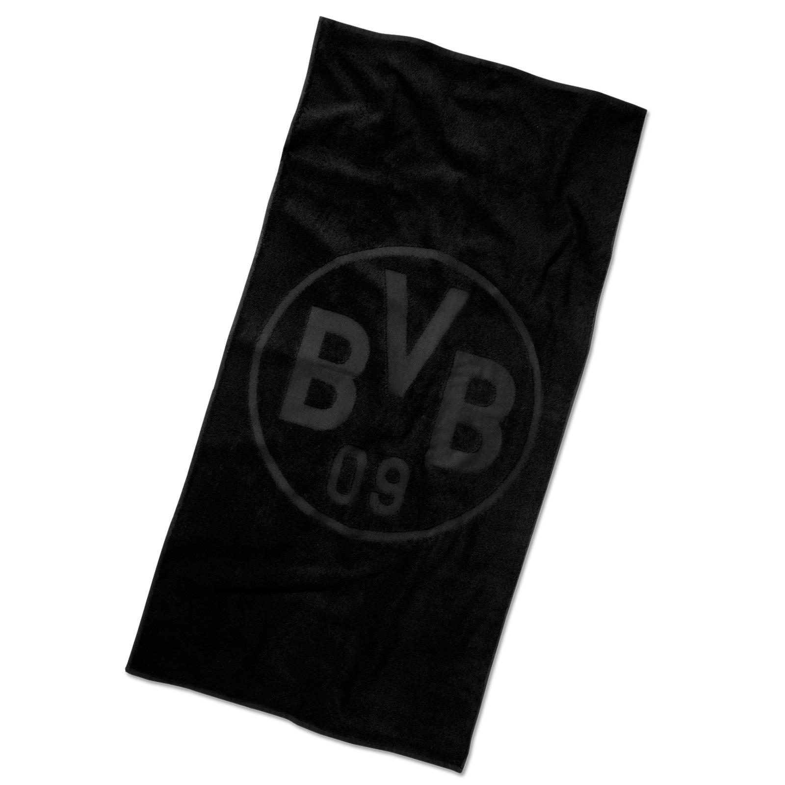 bvb badetuch emblem schwarz bad zu hause offizieller bvb online fanshop. Black Bedroom Furniture Sets. Home Design Ideas