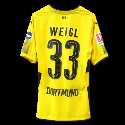 Matchworn Heimtrikot Weigl, Leverkusen
