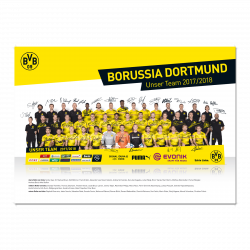 BVB-Mannschaftsposter 2017/18 m. gedr. Unterschr.