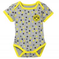BVB 50//56-86//92 Borussia Dortmund Babybody schwarz m Logo gelb Gr