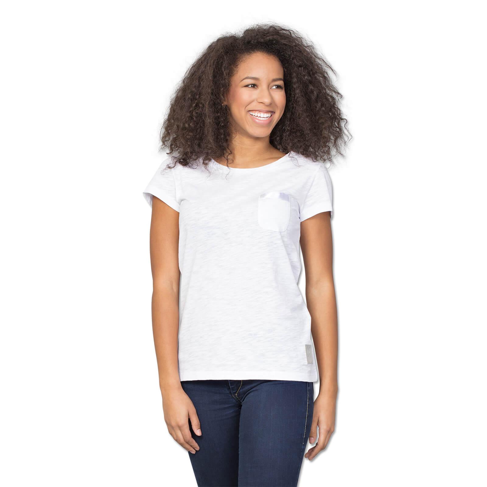 1909 t shirt wei f r frauen trikots shirts damen offizieller bvb online fanshop. Black Bedroom Furniture Sets. Home Design Ideas