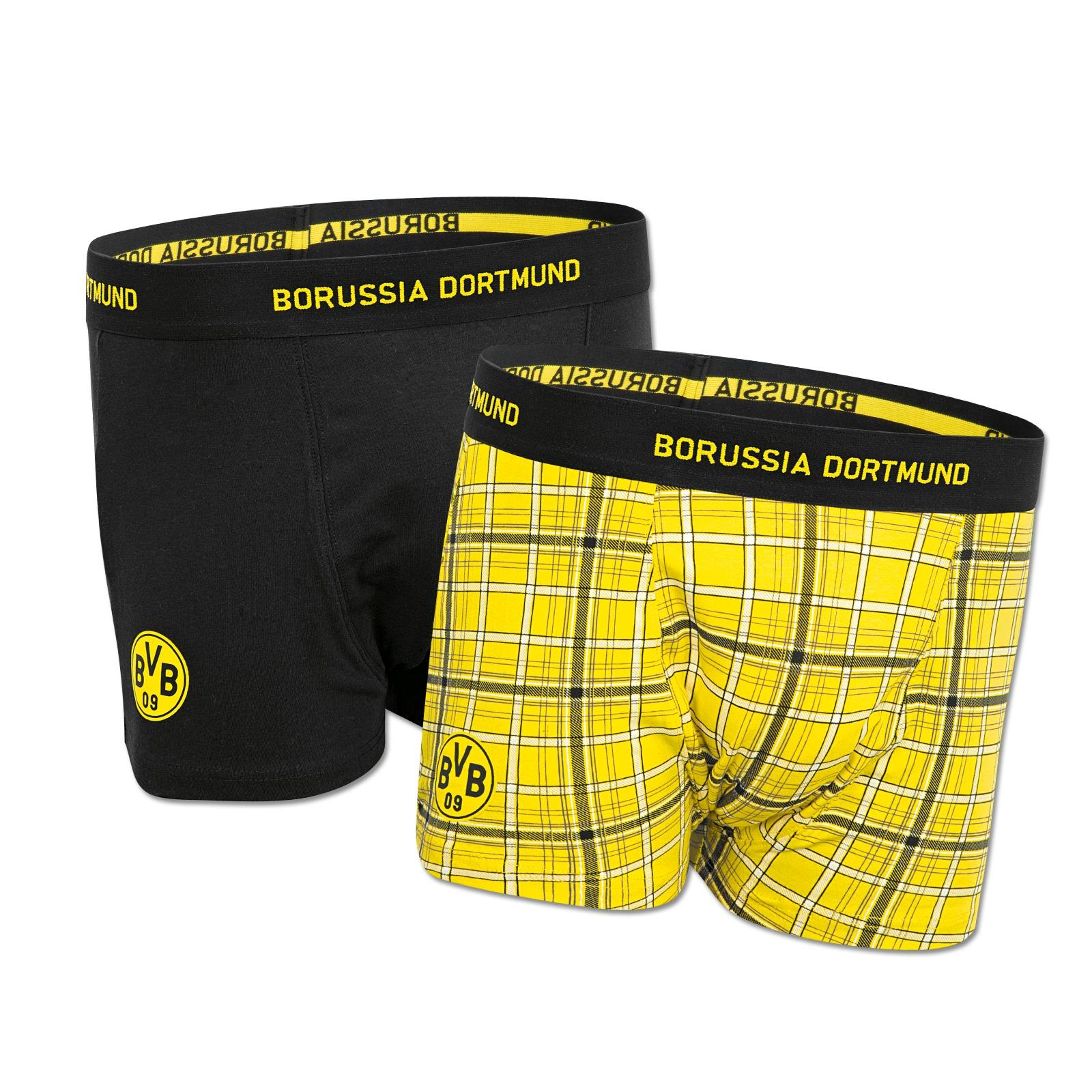 bvb boxershorts 2er pack accessoires herren offizieller bvb online fanshop. Black Bedroom Furniture Sets. Home Design Ideas