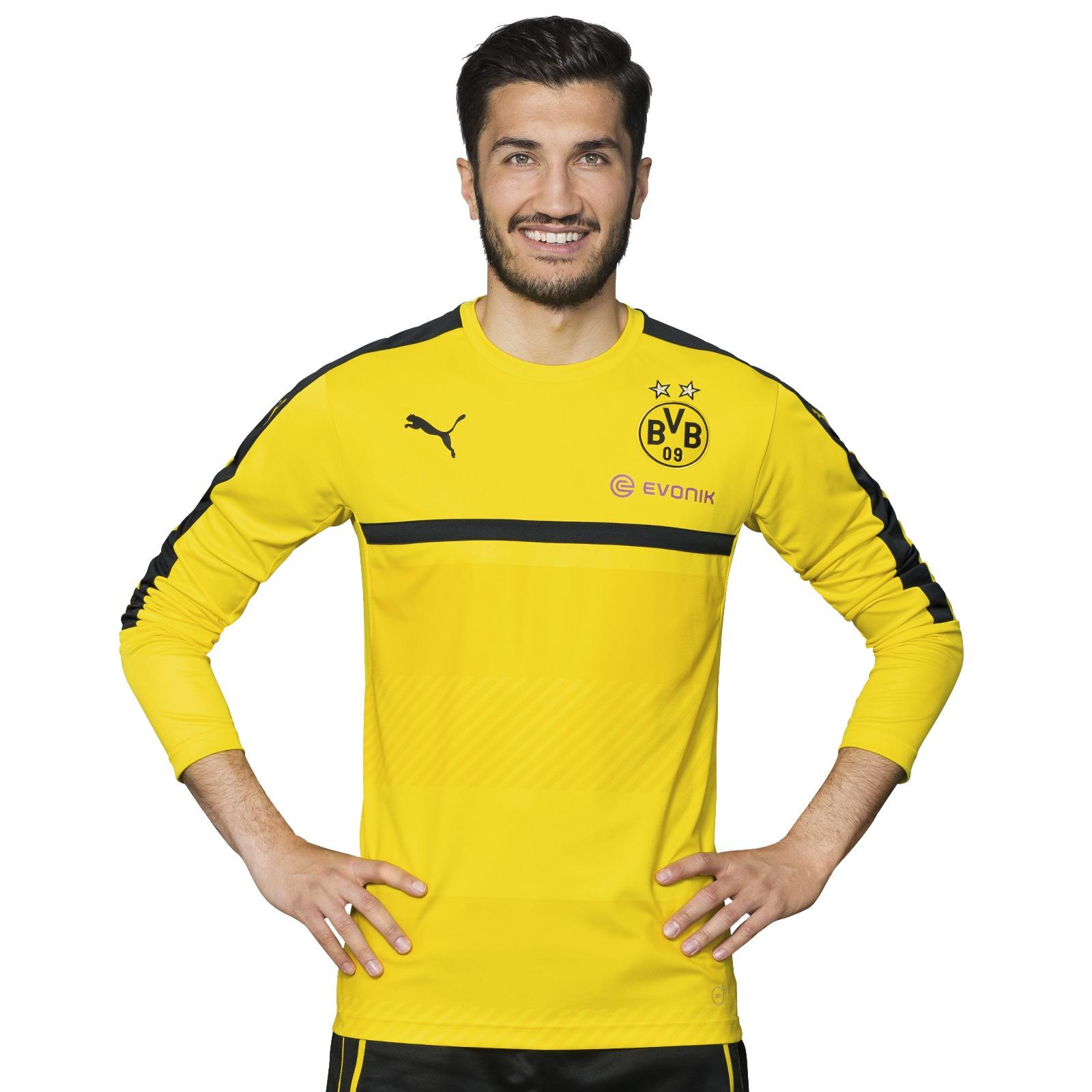 bvb langarm trainingsshirt gelb shirts herren offizieller bvb online fanshop. Black Bedroom Furniture Sets. Home Design Ideas