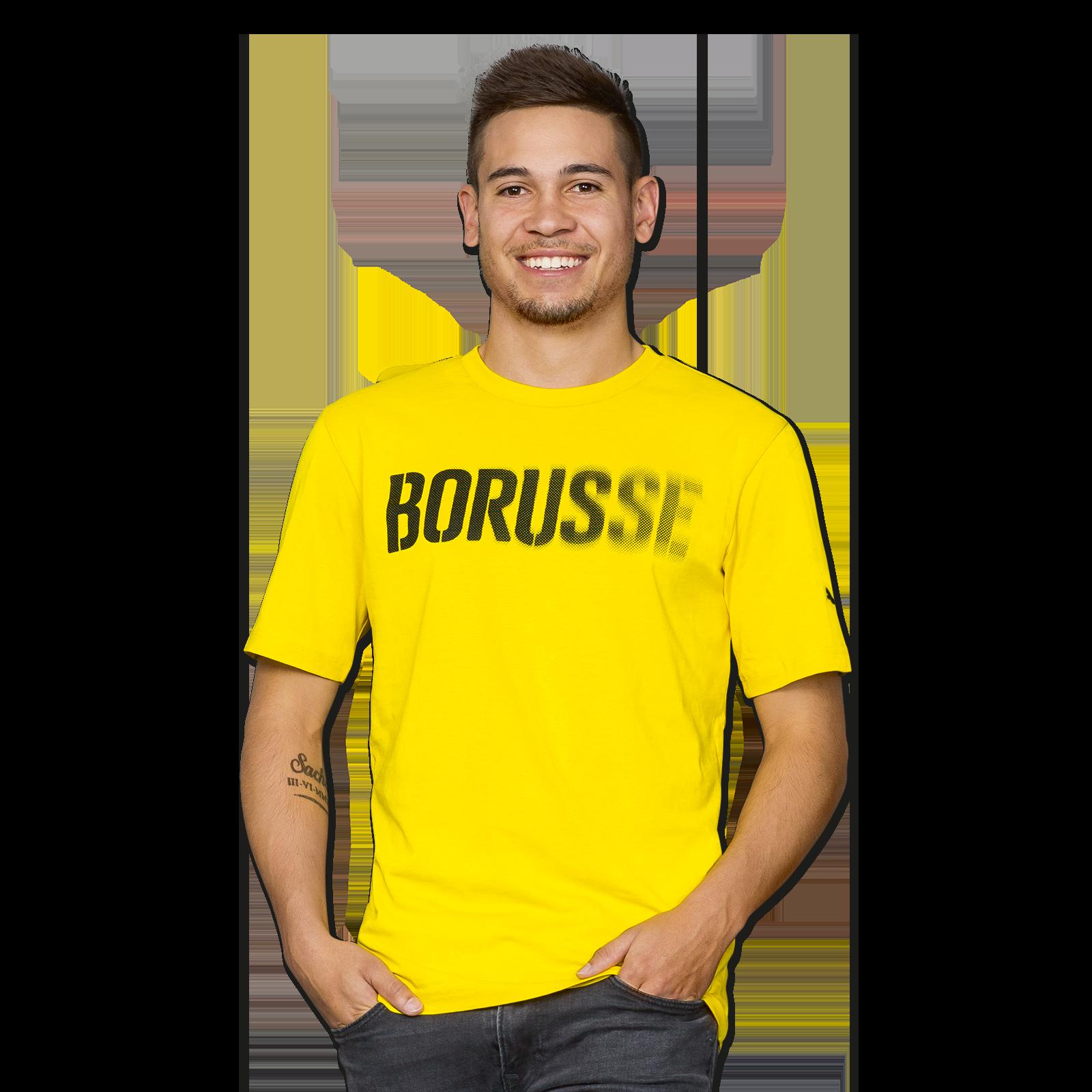 borusse t shirt gelb shirts herren offizieller bvb online fanshop. Black Bedroom Furniture Sets. Home Design Ideas