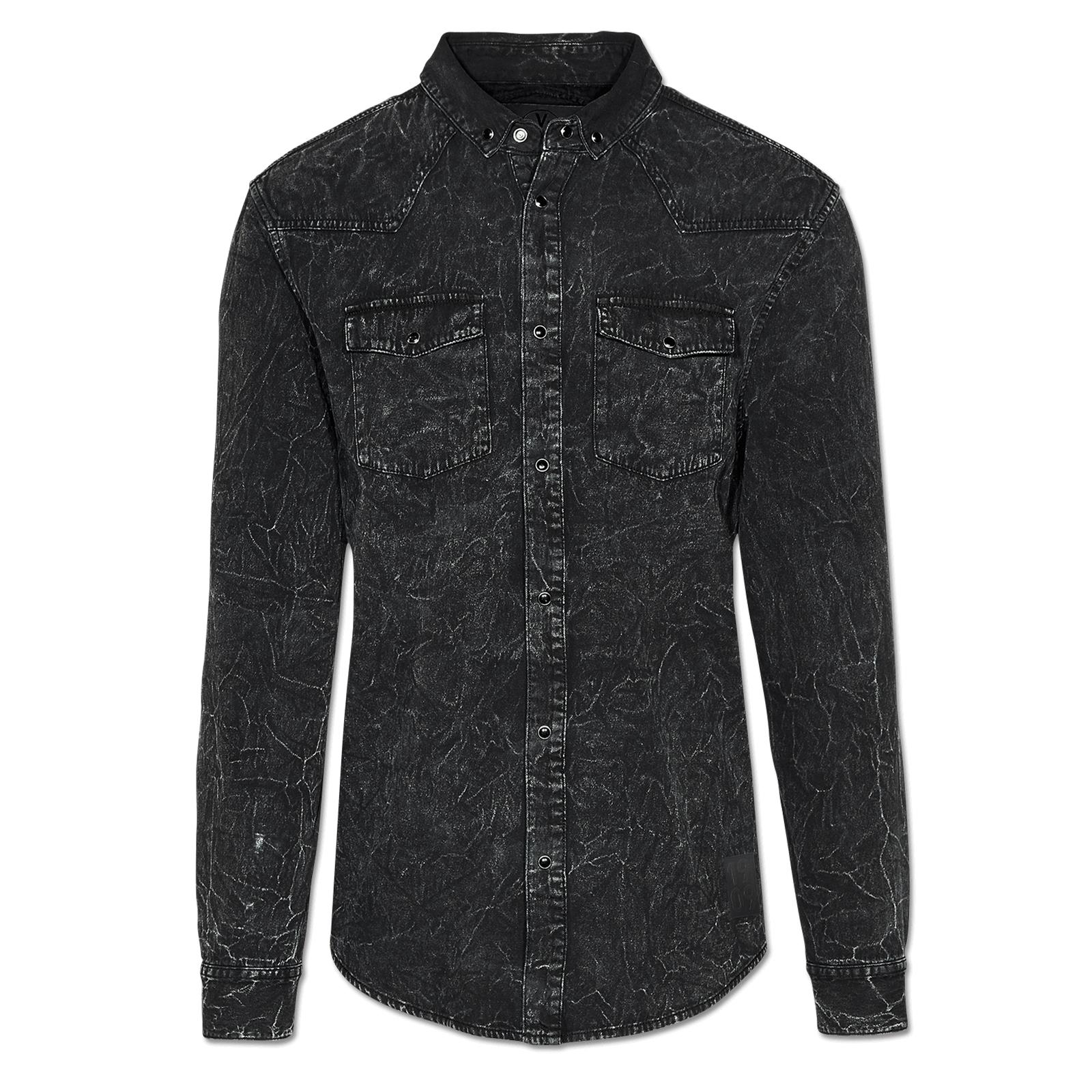 1909 jeanshemd shirts herren offizieller bvb online fanshop. Black Bedroom Furniture Sets. Home Design Ideas