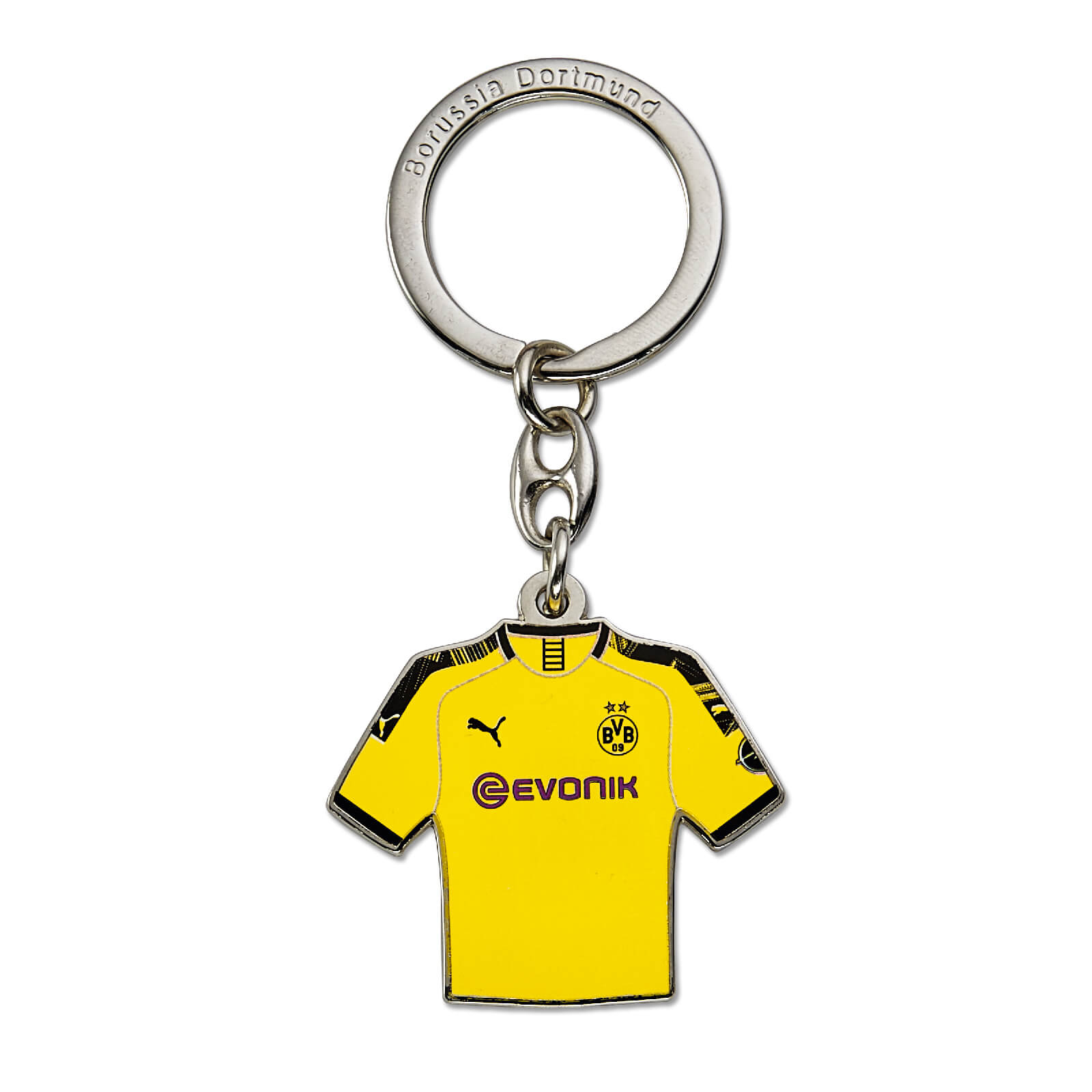 Borussia Dortmund BVB 09 BVB-Retro-Schl/üsselanh/änger