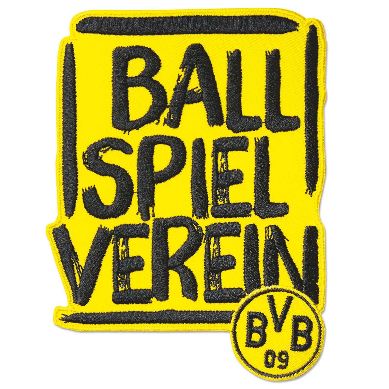 """Borussia Dortmund  Aufnäher Stickabzeichen /""""Fahne/"""""""