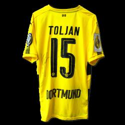 Matchvorbereitetes Trikot Toljan Pokal signiert