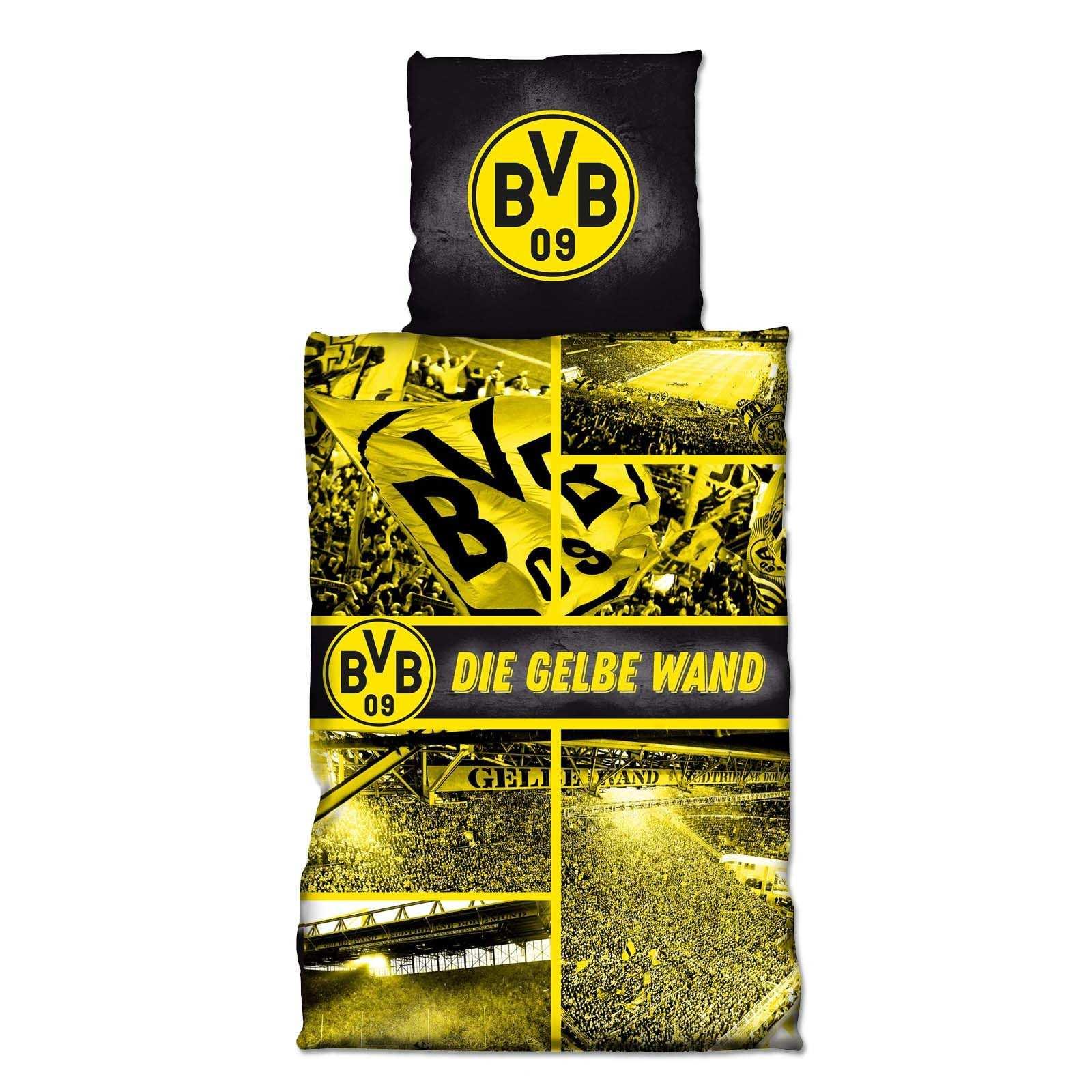 Bvb Biber Bettwäsche Gelbe Wand 135x200cm Schlafzimmer Zu