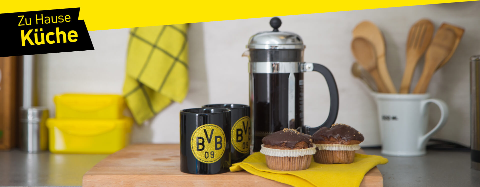 alles f r die k che im offiziellen bvb fanshop offizieller bvb online fanshop. Black Bedroom Furniture Sets. Home Design Ideas