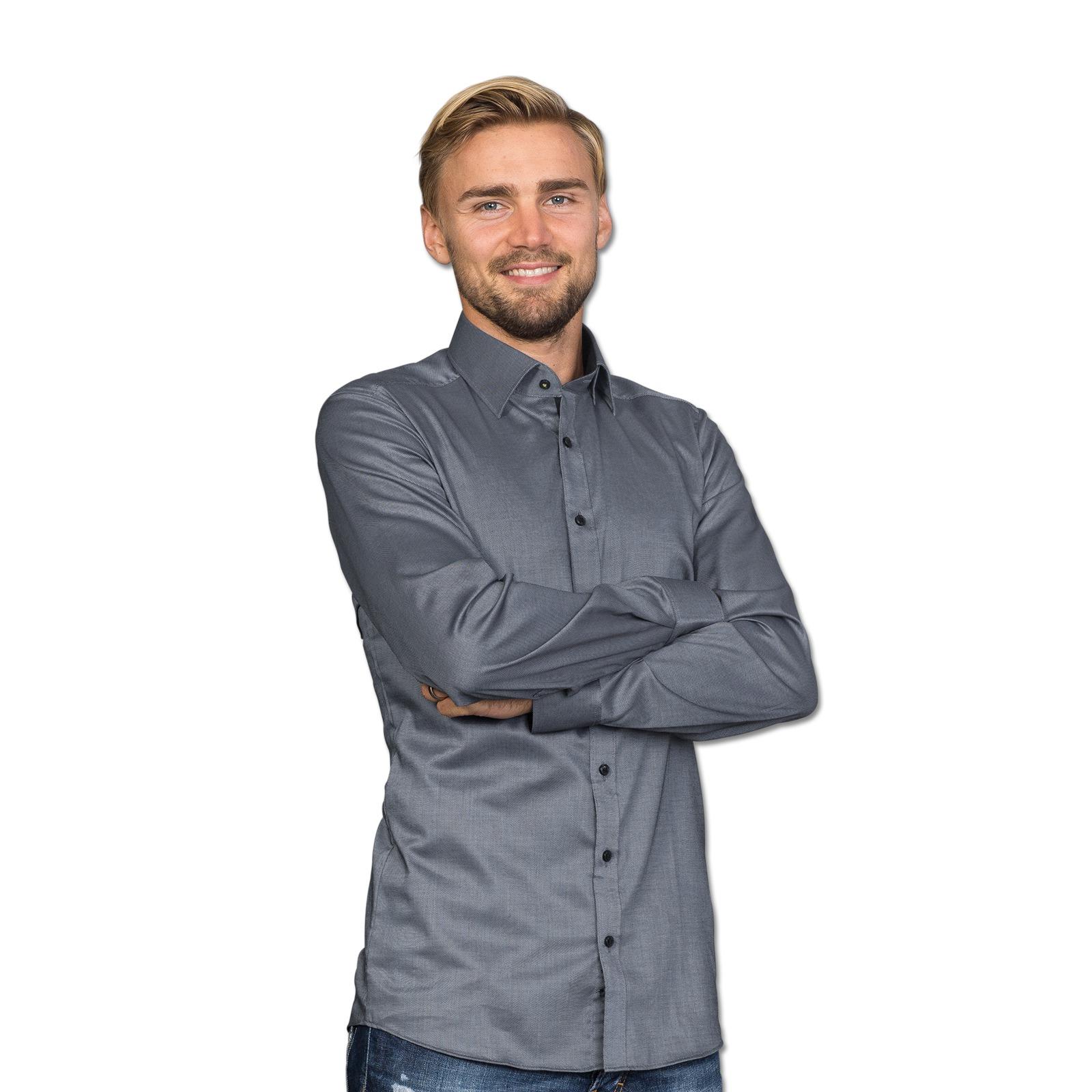 bvb hemd kariert body fit geschenke f r ihn herren offizieller bvb online fanshop. Black Bedroom Furniture Sets. Home Design Ideas