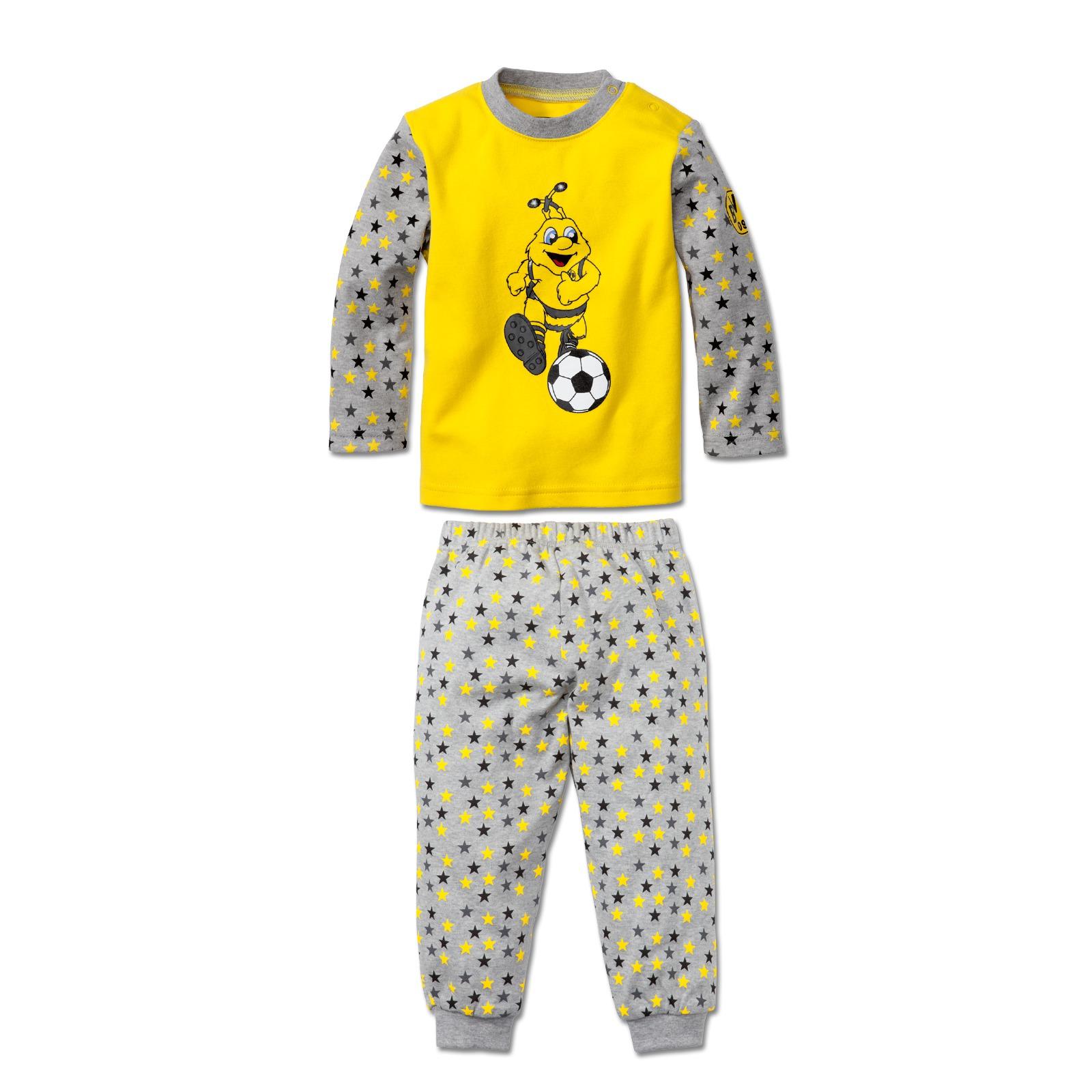bvb schlafanzug f r kleinkinder emma kinder offizieller bvb online fanshop. Black Bedroom Furniture Sets. Home Design Ideas