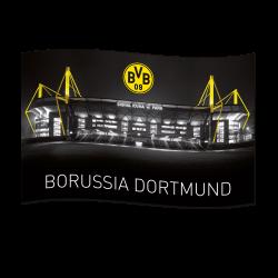 BVB-Zimmerfahne mit Signal Iduna Park