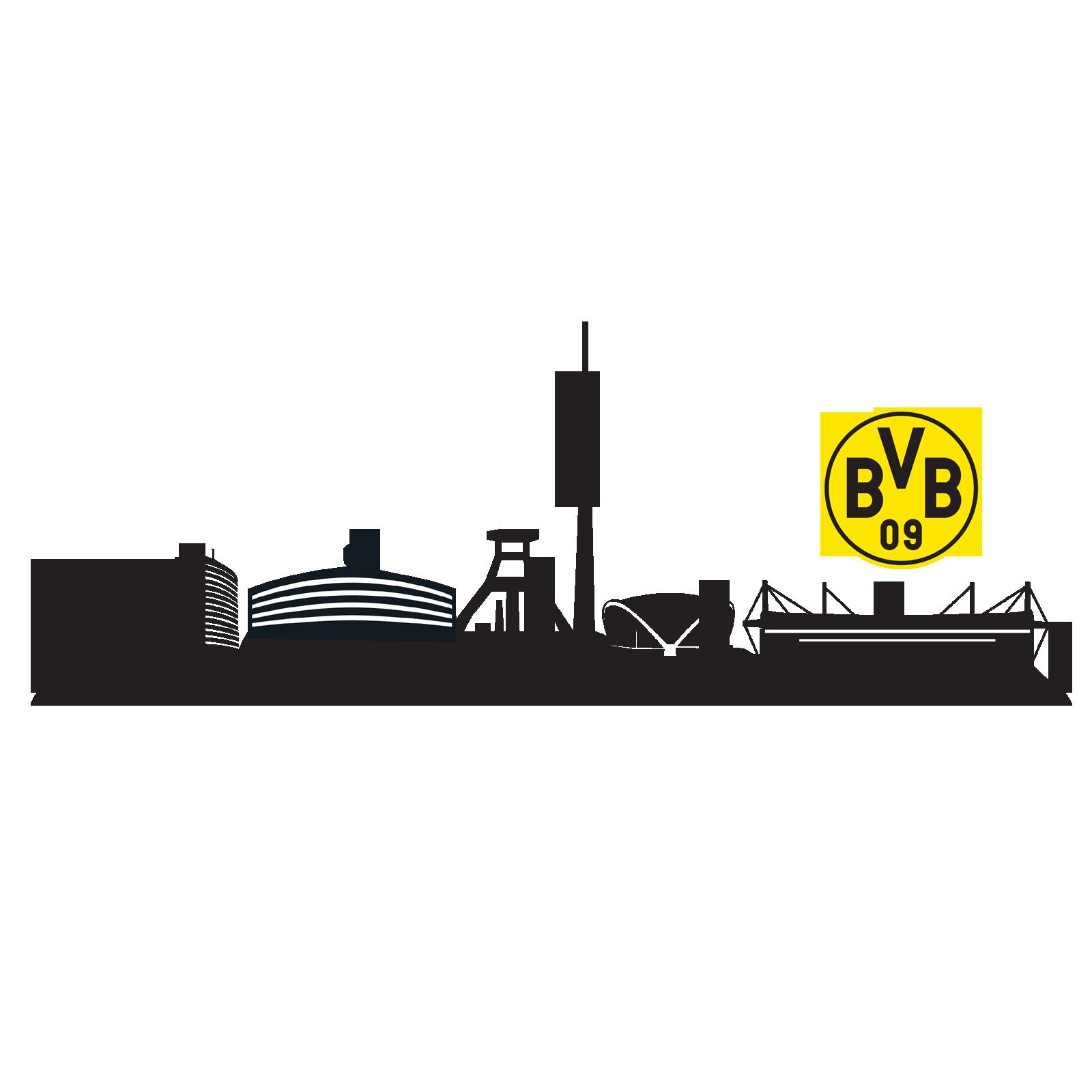 bvb wandtattoo skyline an der wand zu hause offizieller bvb online fanshop. Black Bedroom Furniture Sets. Home Design Ideas