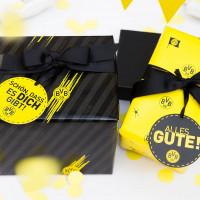 Geschenkpapier Set BVB (9 teilig), schwarzgelb