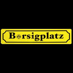 BVB-Blechschild Borsigplatz