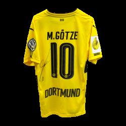 Matchvorbereitet Heim, Götze, signiert, DFB Pokal