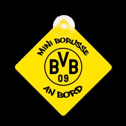 BVB-Minischild mit Saugnapf