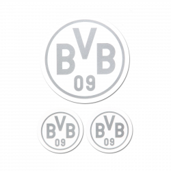BVB-Aufkleber (silber, 3er-Set)